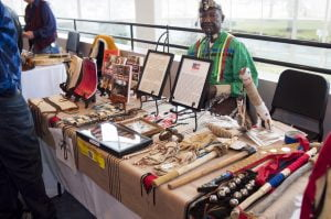 Abe Clark exhibits Native American Collection at 2017 fest